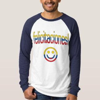 Felicitaciones! Ecuador Flag Colors T Shirt
