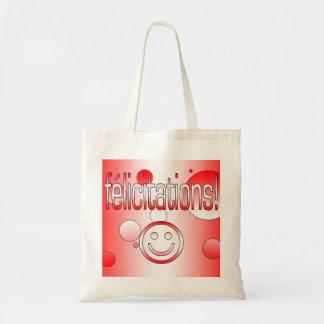 Félicitations! Canada Flag Colors Pop Art Budget Tote Bag