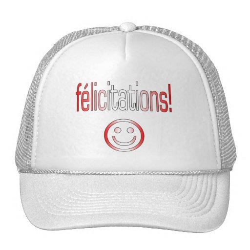 Félicitations! Canada Flag Colors Trucker Hat