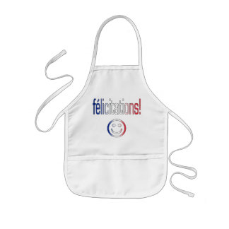 Félicitations! French Flag Colors Apron