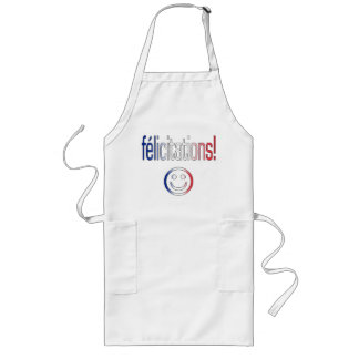 Félicitations! French Flag Colors Aprons