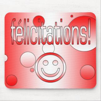 ¡Félicitations! La bandera de Canadá colorea arte Alfombrilla De Raton