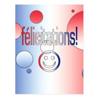 ¡Félicitations La bandera francesa colorea arte p