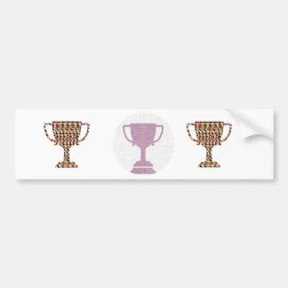 Felicite con símbolos del ganador del PREMIO Pegatina Para Auto