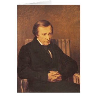 Felicite Roberto de Lamennais 1845 Tarjeta