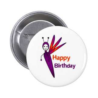 Felicity Firefly Happy Birthday Button