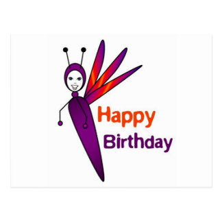 Felicity Firefly Happy Birthday Postcard