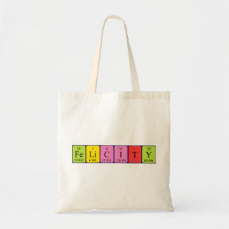 Felicity periodic table name tote bag