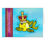 FELICTACIONES crown fish Spanish congratulations Greeting Card