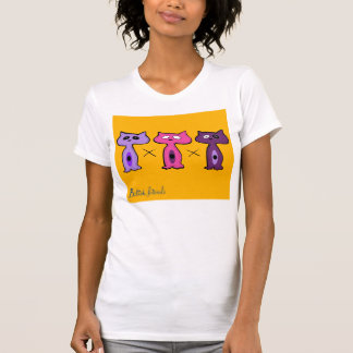 Felid friends1 camisetas