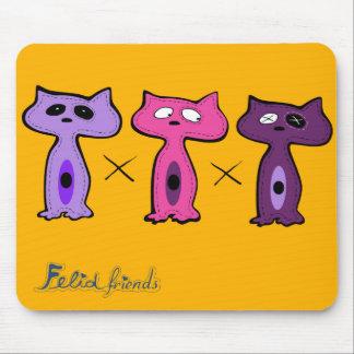 Felid friends1 mouse pad