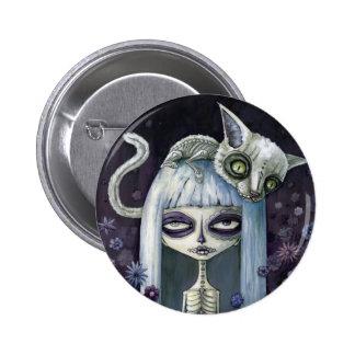 Felina de los muertos 2 inch round button