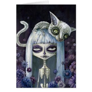Felina de los muertos tarjeta pequeña