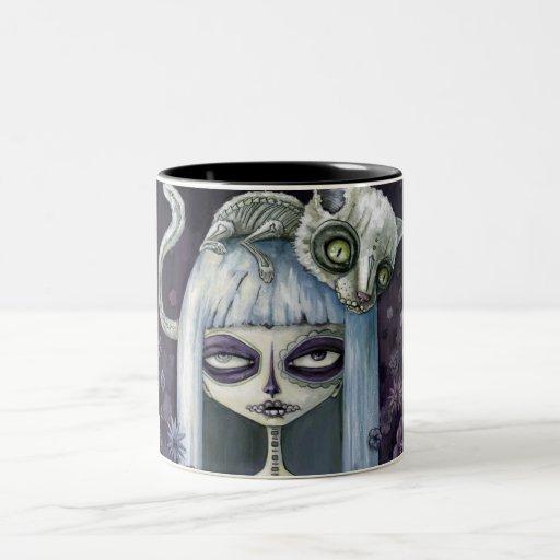 Felina de los muertos tazas de café