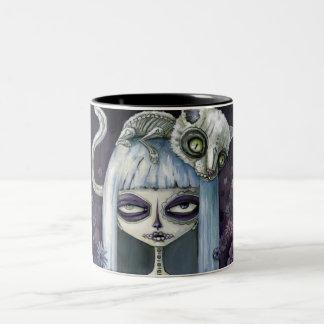 Felina de los muertos Two-Tone coffee mug