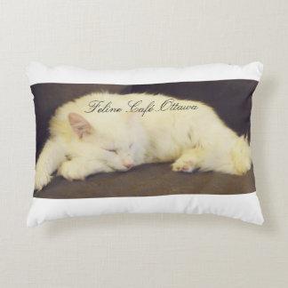 Feline Café Throw Pillow