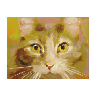 Feline - Digital Art Wrapped Canvas Print