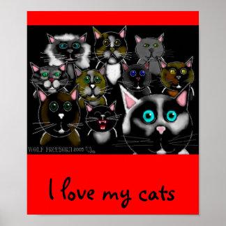 feline divine poster