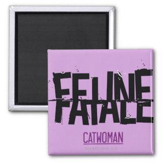 Feline Fatale 2 Inch Square Magnet