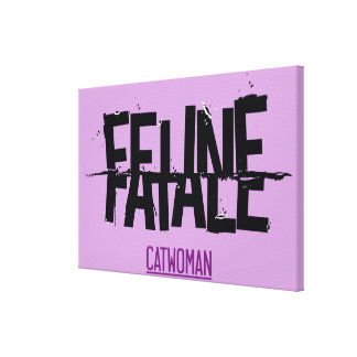 Feline Fatale Gallery Wrapped Canvas