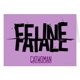 Feline Fatale Card