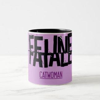 Feline Fatale Two-Tone Coffee Mug