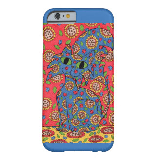 Feline Flower Frenzy Barely There iPhone 6 Case