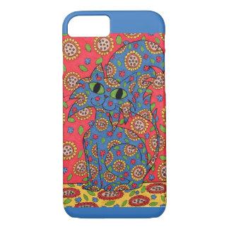 Feline Flower Frenzy iPhone 7 Case