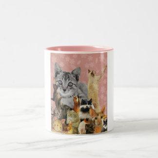 Feline Follies Two-Tone Coffee Mug