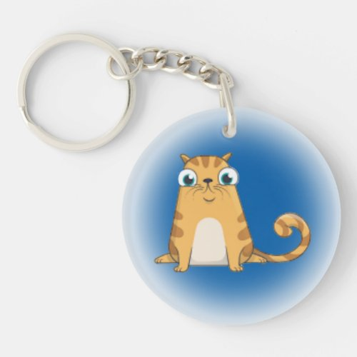 Feline Friend Number Three Keychain