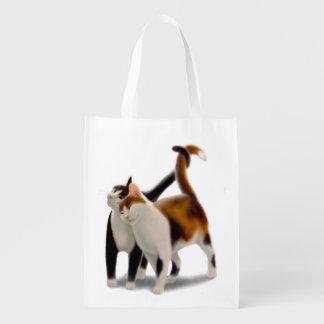 Feline Friends Cat Grocery Tote Bag Market Tote