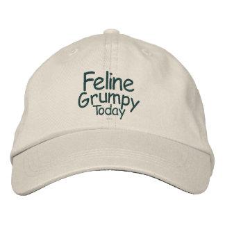 Feline Grumpy Today Embroidered Baseball Hat