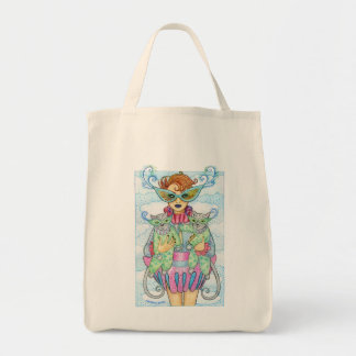 Feline Masquerade Tote Grocery Tote Bag