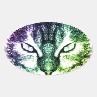 Feline Oval Sticker