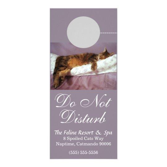 Feline Resort Do Not Disturb Custom Rack Card