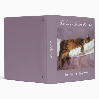 Feline Resort & Spa Guestbook Binder