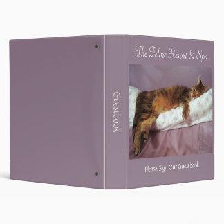 Feline Resort & Spa Guestbook Binder