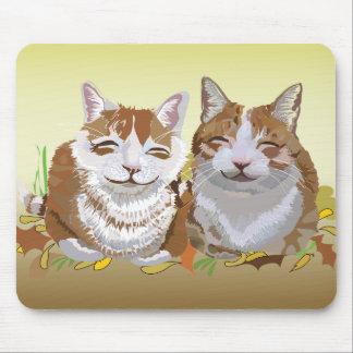 Feline Siblings Mousepad