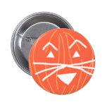 Feline triangular pumpkin button