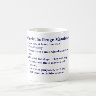 FELINEIST SUFFRAGE MANIFESTO COFFEE MUG