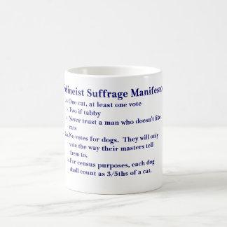 FELINEIST SUFFRAGE MANIFESTO COFFEE MUG