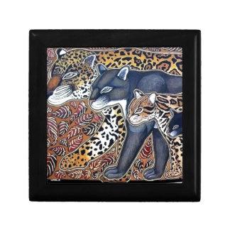 Felines of Costa Rica - Big cats jeweler Keepsake Box
