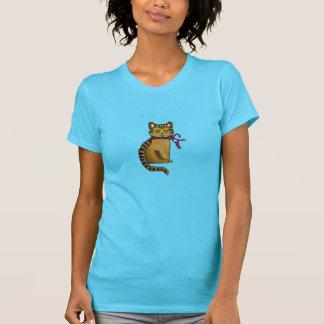 Felino amistoso camiseta