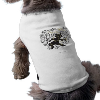 Felino decidido playera sin mangas para perro