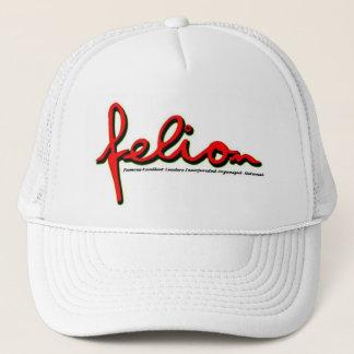 FELION HOT WHITE AND RED TRUCKER HAT