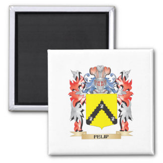 Felip Coat of Arms - Family Crest 2 Inch Square Magnet