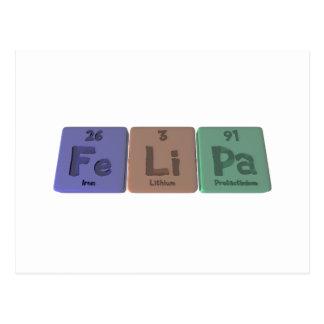 Felipa as Iron Lithium Protactinium Postcard