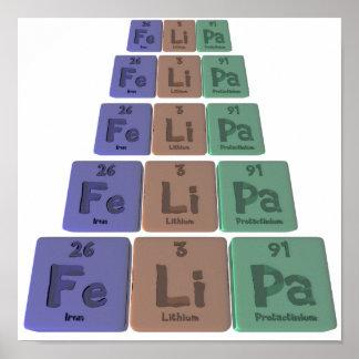 Felipa as Iron Lithium Protactinium Poster