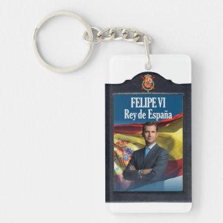 Felipe VI Rey de España Llavero Rectangular Acrílico A Una Cara