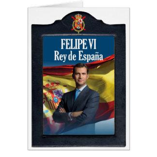 Felipe VI Rey de España Tarjeta De Felicitación